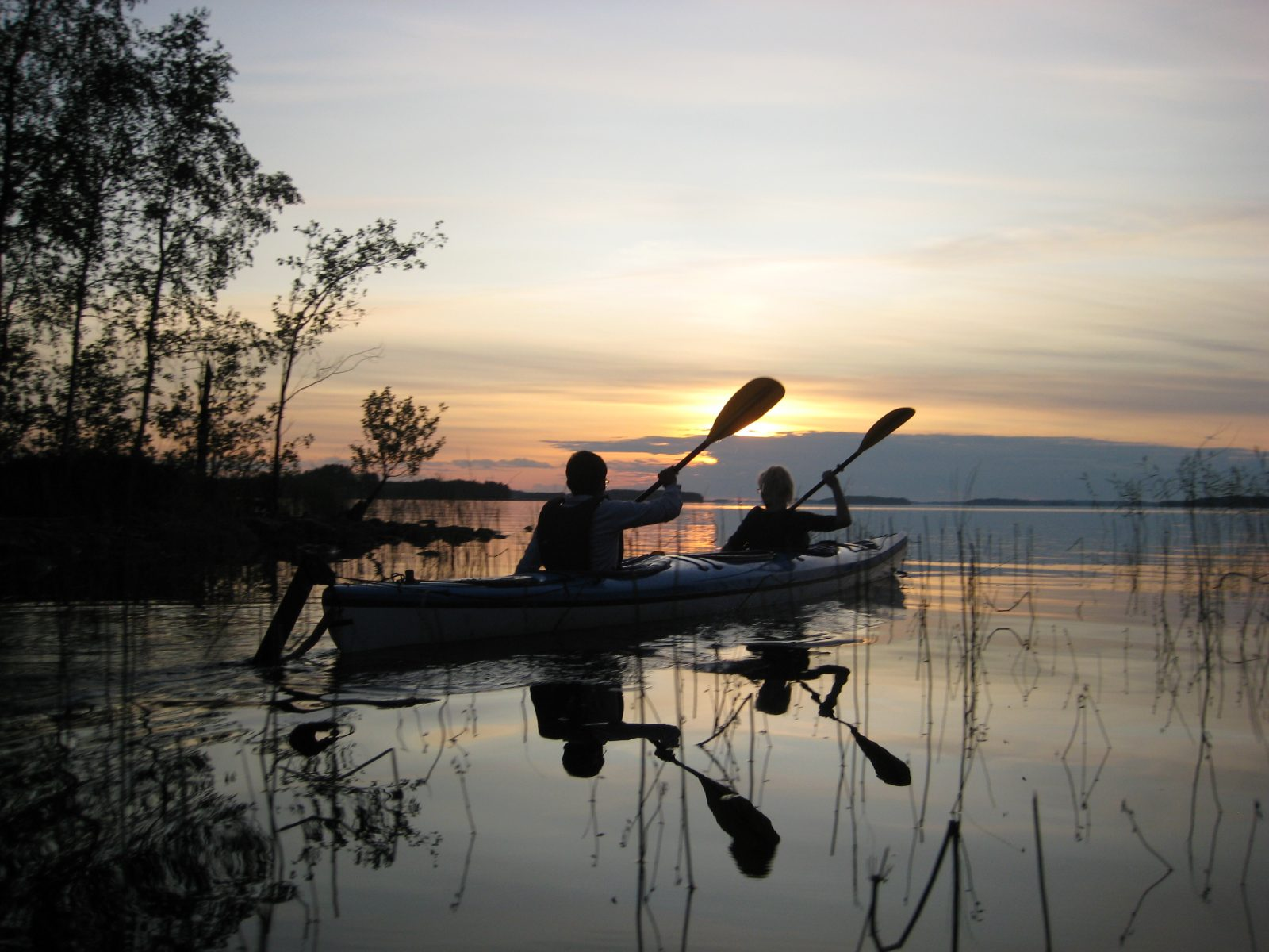 Canoeing on Lake Puruvesi