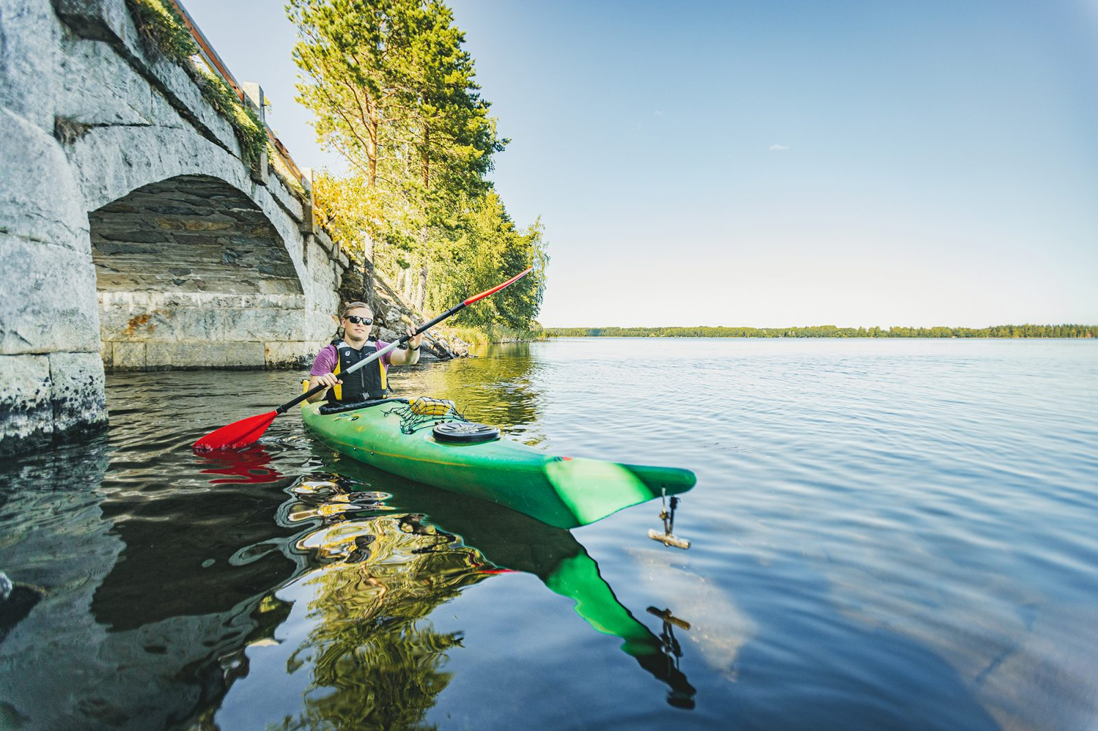 Kayaking trip to Punkaharju Nature Reserve