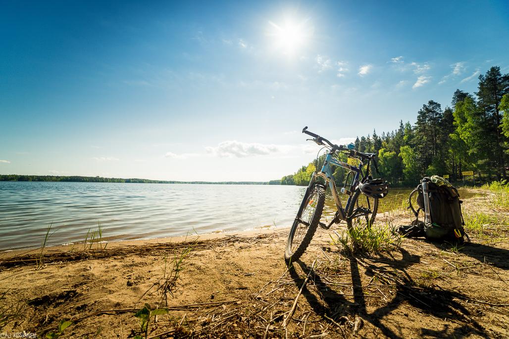 Тур на велосипеде вокруг озера Пурувеси
