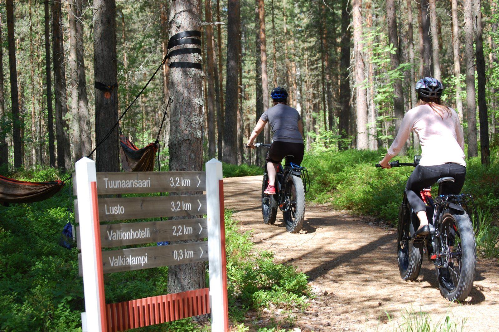 Opastetut fatbike -retket Punkaharjulla | Kruunupuisto
